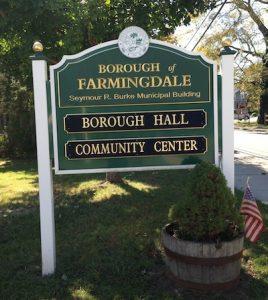 Farmingdale NJ Municipal sign DWI