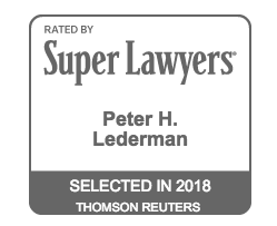 Rated by Super Lawyer Peter H. Lederman Selected in 2018