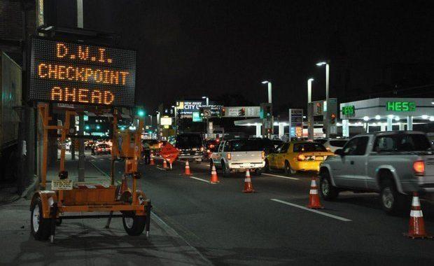 Lederman DWI Checkpoint Ahead Sign
